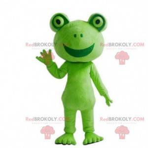 Obří a usměvavý maskot zelená žába - Redbrokoly.com