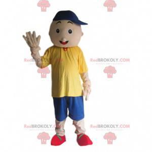 Maskot chlapec, dětský kostým s čepicí - Redbrokoly.com