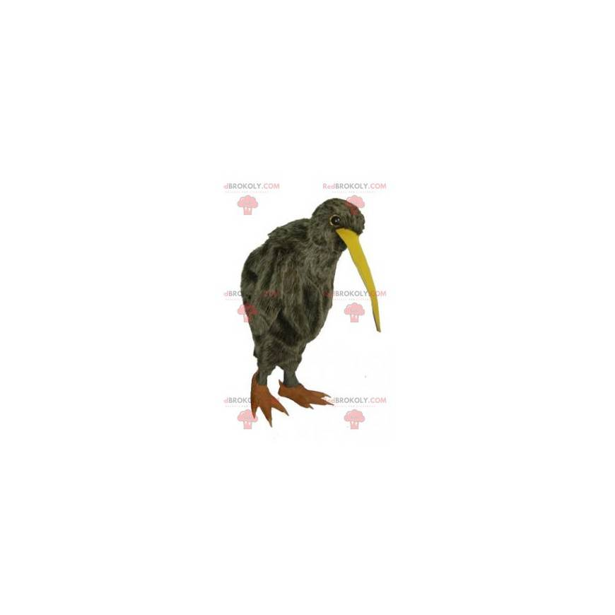 Long-billed curlew brown bird mascot - Redbrokoly.com