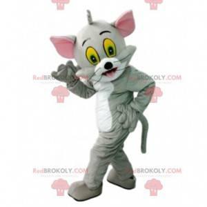 Tom, la famosa mascota del gato gris de la caricatura Tom y