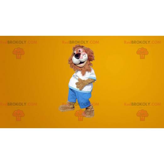 Brown and white tiger mascot - Redbrokoly.com