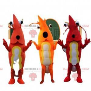 3 maskoti krevet, kostýmy měkkýšů - Redbrokoly.com