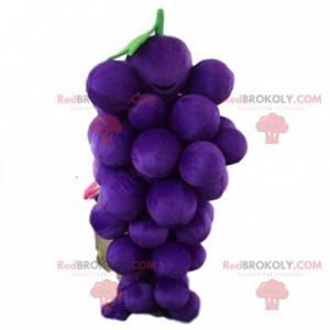 Maskott gigantisk haug med druer, fruktdrakt - Redbrokoly.com