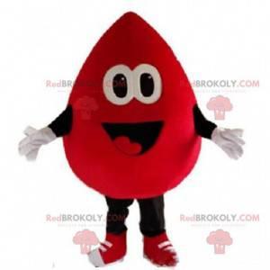 Gigantisk bloddråpe maskot, bloddonasjonsdrakt - Redbrokoly.com