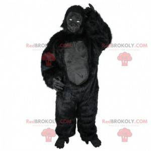 Schwarzes Gorilla-Maskottchen, tolles schwarzes Affenkostüm -