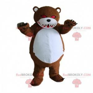 Zombie plyšový maskot, strašidelný medvěd, Halloween -