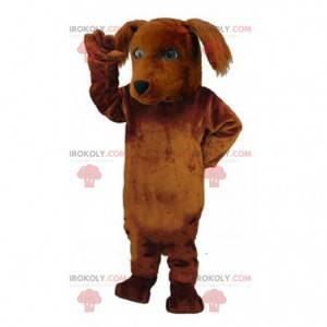 Velký hnědý psí maskot, plyšový pejsek - Redbrokoly.com