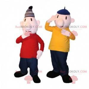Maskoti Pat a Mat, slavné postavy z animovaných seriálů -