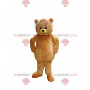 beige teddy bear mascot, teddy bear costume - Redbrokoly.com