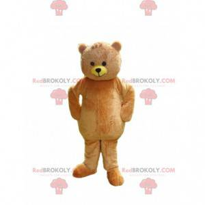 maskot béžového medvídka, kostým medvídka - Redbrokoly.com