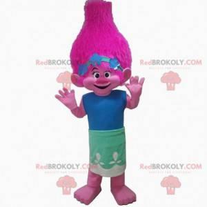 Růžový troll maskot, růžové stvoření kostým - Redbrokoly.com