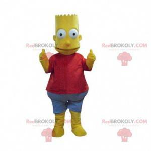 Mascot Bart Simpson, beroemd geel personage uit de serie -
