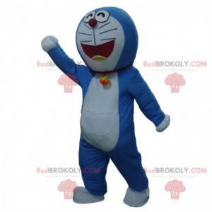 Doraemon mascot, famous blue and white manga cat -