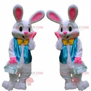 Velikonoční zajíček maskot, velmi elegantní kostým bílého
