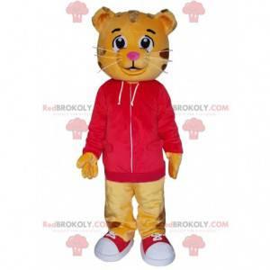 Maskot Dany, slavného malého oranžového karikatury tygra -