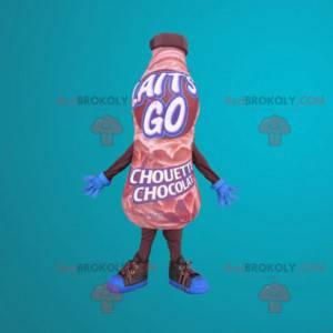 Mascot giant bottle of chocolate drink - Redbrokoly.com