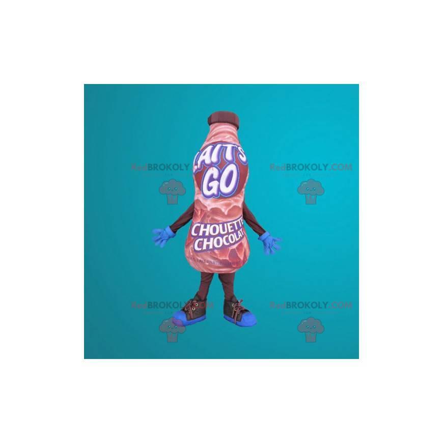 Maskottchen Riesenflasche Schokoladengetränk - Redbrokoly.com