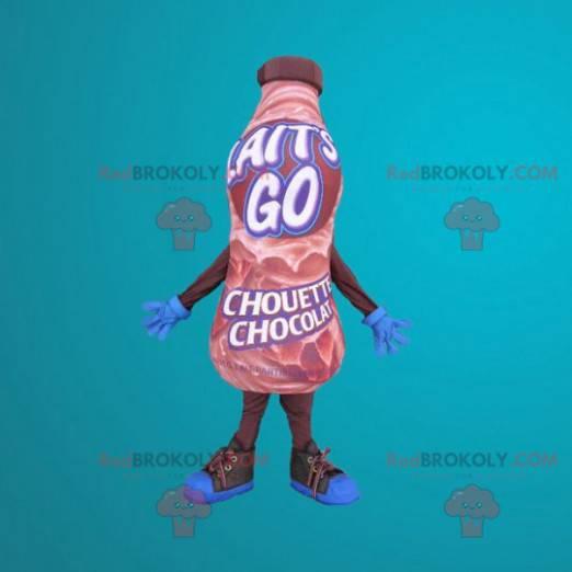 Mascot gigantisk flaske sjokoladedrikk - Redbrokoly.com