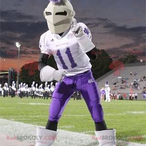 Knight mascot with a helmet and sportswear - Redbrokoly.com