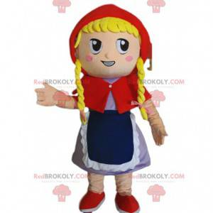 Maskotka Czerwony Kapturek, kostium blondynki - Redbrokoly.com