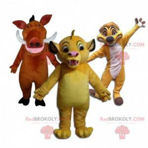 """Mascotes de Simba, Timão e Pumba do """"Rei Leão"""" da Disney -"""