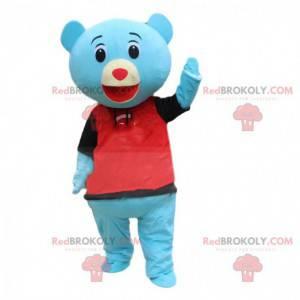 Maskot modrý medvídek, kostým modrý medvídek - Redbrokoly.com