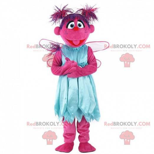 Pink character mascot, pink creature costume - Redbrokoly.com