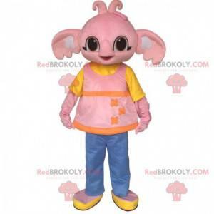 Maskottchen Sula, der rosa Elefant, Freund von Bing Bunny -