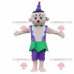 Asian man mascot, Chinese gymnast costume - Redbrokoly.com