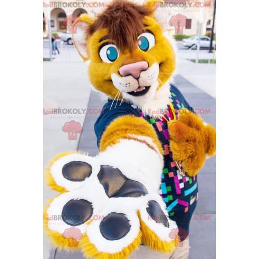 Maskottchen des gelben und weißen Tigerlöwen - Redbrokoly.com