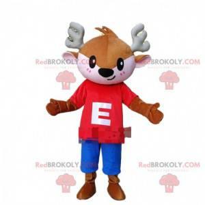 Doe mascot, fawn, small brown animal costume - Redbrokoly.com