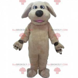 Beige hundemaskot, hundedrakt, hundedrakt - Redbrokoly.com