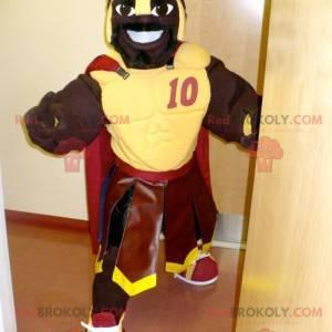 Maskot afrického gladiátora se žlutým brněním - Redbrokoly.com