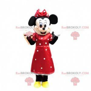 Mascote de Minnie, o famoso rato da Disney, fantasia de Minnie