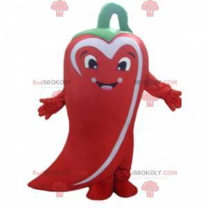 Riesiges Maskottchen mit rotem Pfeffer, Kostüm mit rotem