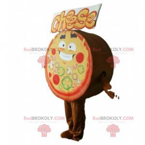 Reusachtige pizza mascotte, pizzeria-kostuum - Redbrokoly.com