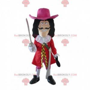 Maskottchen Captain Hook, der berühmte Pirat von Peter Pan -
