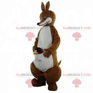 Brązowy i biały kangur maskotka, zwierzę Australia -