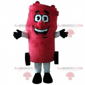 Gigantisk rød søppel maskot, dumpster kostyme - Redbrokoly.com