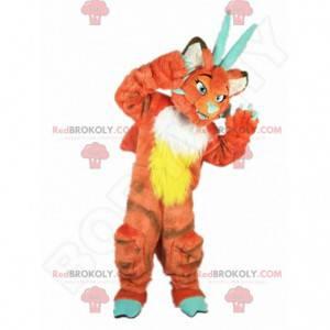 Oranžový drak maskot, oranžové stvoření kostým - Redbrokoly.com