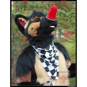Brown and black dog mascot - Redbrokoly.com