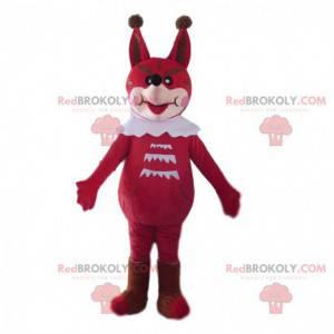 Rot-Weiß-Fuchs-Maskottchen, das böse aussieht - Redbrokoly.com