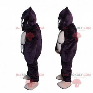 Mascota orangután, disfraz de gorila negro gigante -