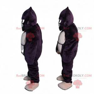 Mascotte orangutan, costume gigante gorilla nero -