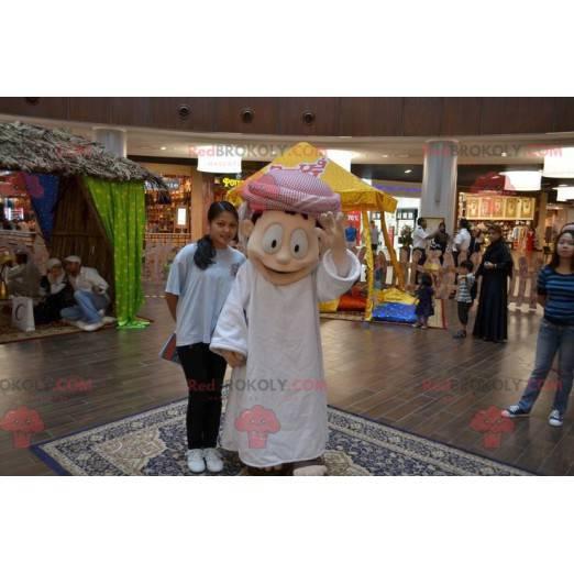Sultan Maskottchen im weißen Outfit - Redbrokoly.com