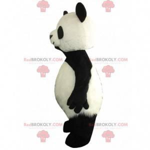 Maskot panda velká, kostým obří černobílý medvěd -