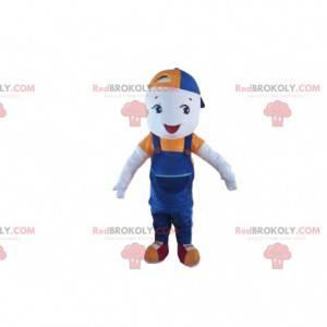 Kleines Jungenmaskottchen, Kinderkostüm mit einer Kappe -