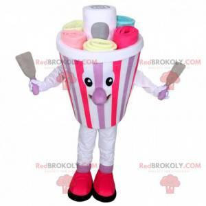 Maskot na zmrzlinu, kostým zmrzliny zmrzlé plancha -