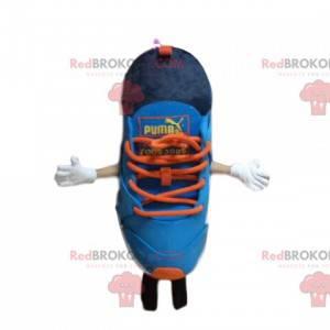 Puma basketball mascot, blue and orange, shoe costume -