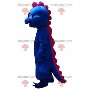 Blaues und rosa Dinosauriermaskottchen, Drachenkostüm -